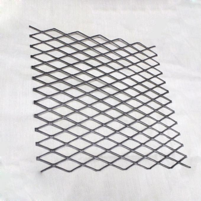 Heavy Duty Steel Grill Expanded Metal Sheet , Diamond Metal Mesh In Silver