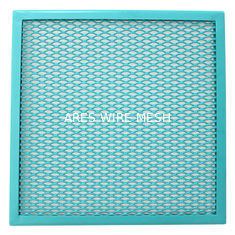 China Diamond Aluminum Window Screen Expanded Wire Mesh Decorative Woven supplier