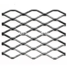 China Heavy Duty Steel Grill Expanded Metal Sheet , Diamond Metal Mesh In Silver supplier