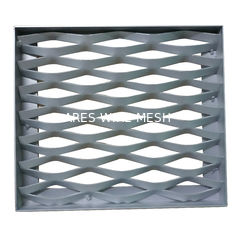 China Customizable Expanded Aluminum Mesh , Aluminium Diamond Mesh For Building Facade supplier