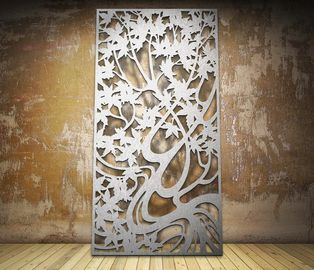 China Elegant Colorful Furnishing Laser Cut Metal Screens For Exterior And Interior Spaces distributor