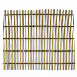 China Modern Decorative Screen Panel Woven Metal Mesh Curtain For Ceiling Tiles distributor